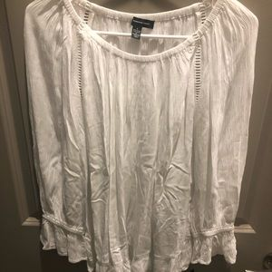 INC flowy white top, S, NWT